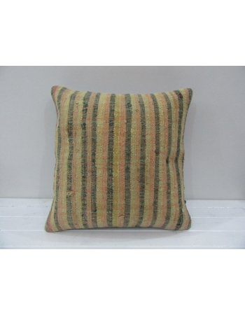 Vintage Handmade Striped Mustard Turkish Kilim Pillow cover