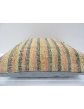 Vintage Handmade Striped Mustard Turkish Kilim Pillow cover