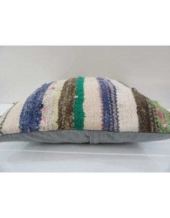 Vintage Handmade Multicolor Striped Turkish Kilim Pillow cover