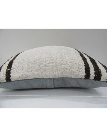 Vintage Handmade Natural Brown Striped Turkish Kilim Pillow cover