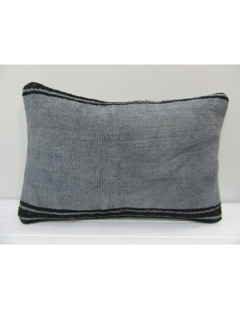 Vintage Handmade Black Striped Gray Kilim Cushion Cover