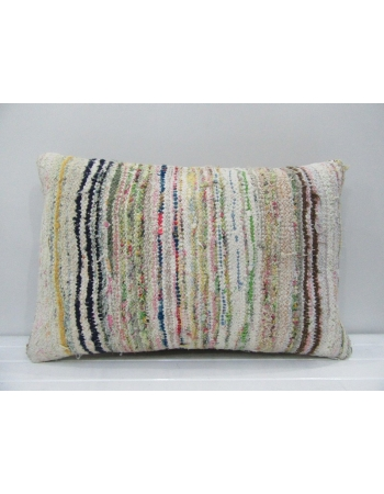 Vintage Handmade Multicolor Striped Kilim Cushion Cover