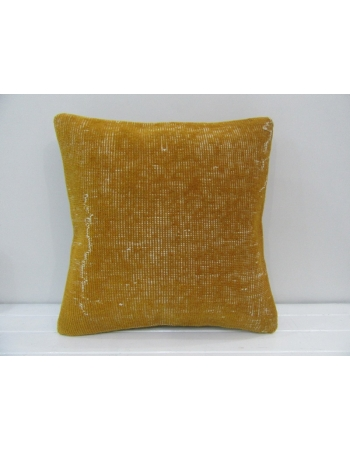Vintage Handmade Decorative Yellow Turkish Pillow Cover