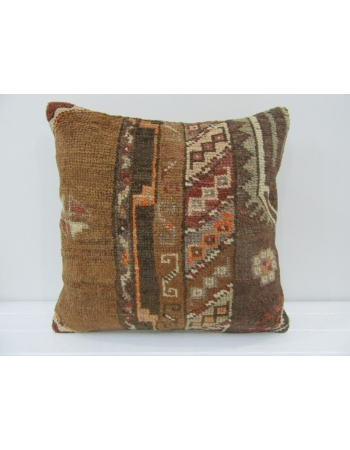 Vintage Handmade Decorative Brown Turkish Pillow Cover