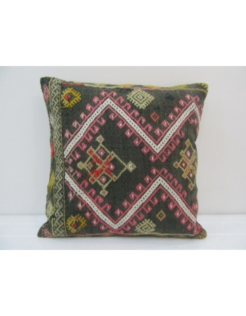 Vintage Handmade Decorative Embroidered Turkish Kilim Pillow Cover