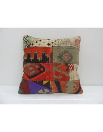 Vintage Handmade Decorative Patchwork Kilim Pillow Cover