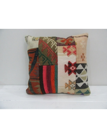 Vintage Handmade Decorative Patchwork Kilim Pillow Cover