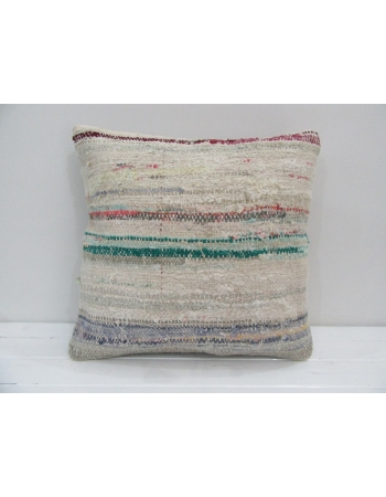 Vintage Handmade Decorative Striped Kilim Pillow Cover