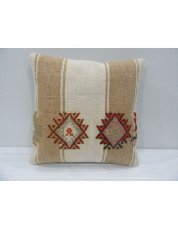 Vintage Handmade Decorative Embroidered Striped Kilim Pillow Cover