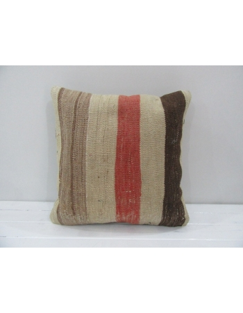 Vintage Handmade Decorative Multicolor Striped Kilim Pillow Cover
