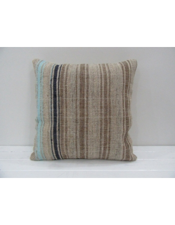 Vintage Handmade Blue and Navyblue Striped Kilim Pillow Cover