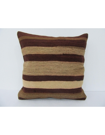 Vintage Striped Wool Kilim Pillow
