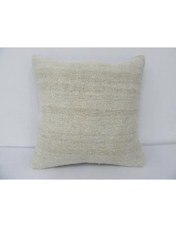 Off White Vintage Hemp Kilim Pillow