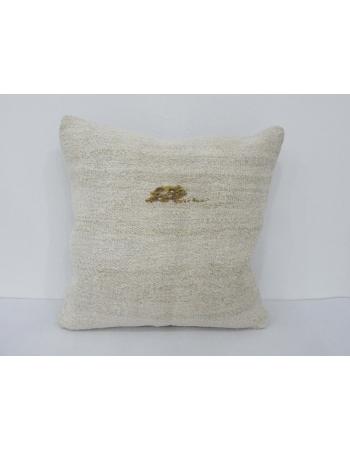 Off White Vintage Hemp Pillow Cover
