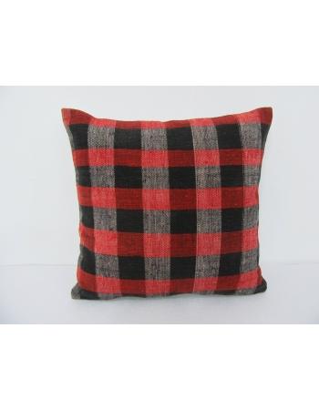 Red & Black Vintage Kilim Pillow Cover