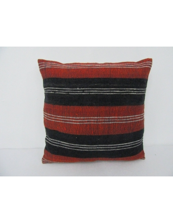 Striped Vintage Turkish Kilim Pillow Cover