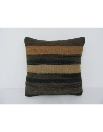 Brown Vintage Kilim Pillow Cover