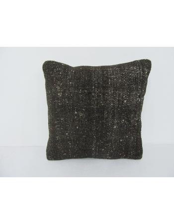 Dark Brown Plain Kilim Pillow Cover