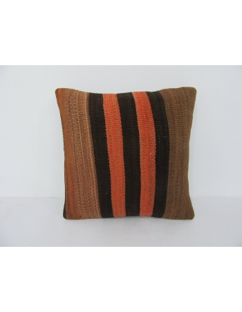 Striped Orange & Brown Kilim Pillow