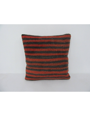 Red & Black Vintage Kilim Pillow Cover