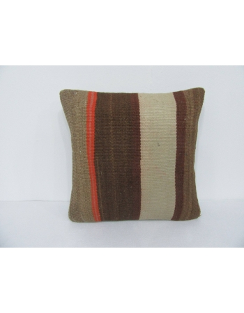 Striped Brown Kilim Pillow Cover