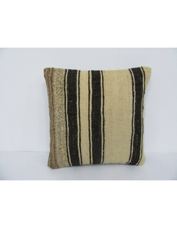 Natural Striped Vintage Kilim Pillow