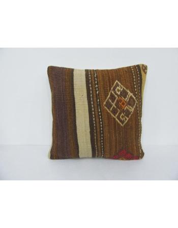 Decorative Brown Vintage Kilim Pillow