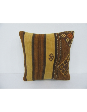 Brown & Yellow Kilim Pillow Cover