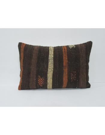 Striped Vintage Brown Kilim Pillow