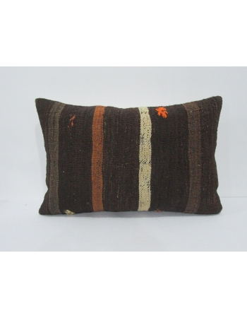 Vintage Brown Striped Kilim Pillow