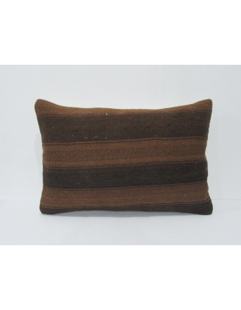 Wool Kilim Striped Brown Pillow Cover