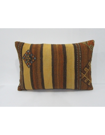 Yellow & Brown Vintage Kilim Pillow