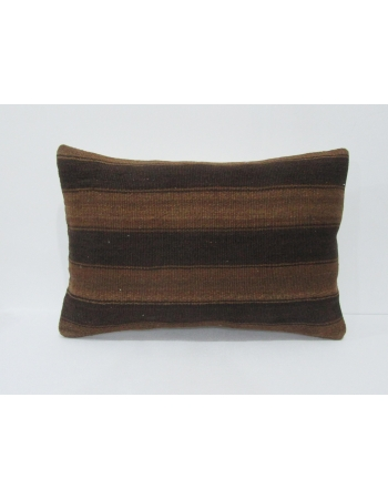 Wool Brown Turkish Kilim Pillow