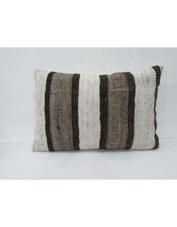 Striped Vintage Turkish Kilim Pillow