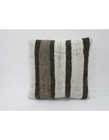 Striped Vintage White & Brown Pillow