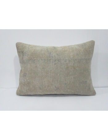 Worn Vintage Blue & Ivory Pillow Cover