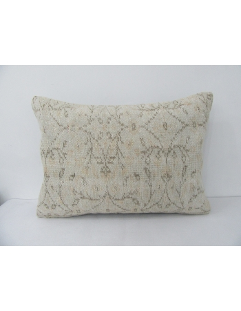 Vintage Cream & Brown Pillow Cover