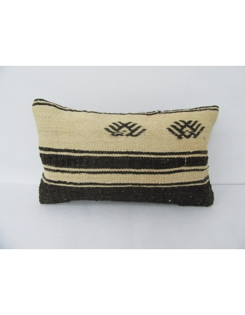 White & Black Kilim Pillow Cover
