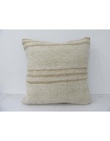 Vintage Hemp Striped Kilim Pillow
