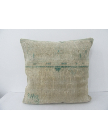 Vintage Green & Ivory Large Pillow