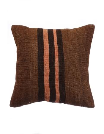 Vintage Brown Turkish Kilim Pillow Cover