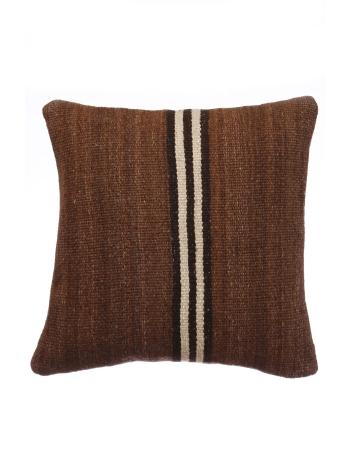 Vintage Brown Kilim Pillow Cover
