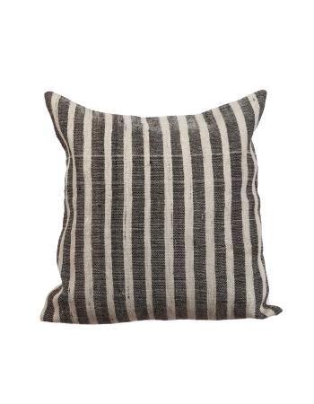 Gray & White Kilim Pillow Cover
