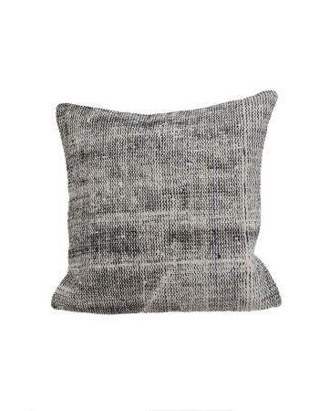 Gray Distressed Vintage Pillow Cover