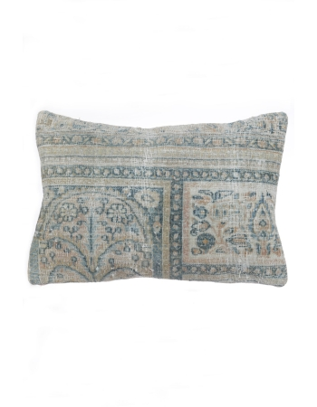 Distressed Blue Pillow Cover