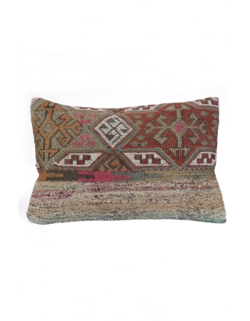 Embroidered Vintage Kilim Pillow Cover