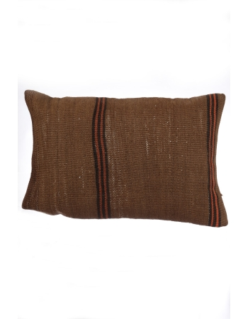 Vintage Brown Kilim Pillow Cover
