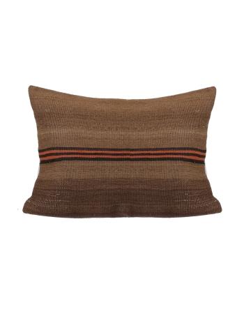 Large Vintage Brown Kilim Pillow