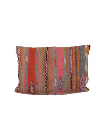 Large Colorful Striped Kilim Pillow