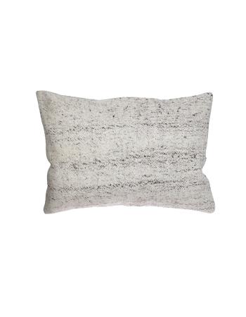Large Gray Vintage Kilim Pillow